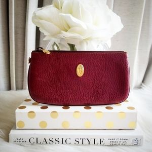 Cartier Vintage Red Zip Pouch